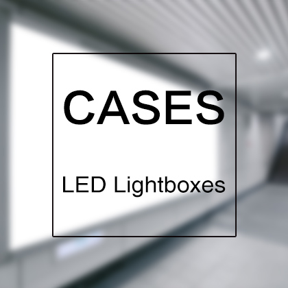 LED Lightboxes Cases